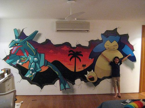 Pokemon MuralWallart Bedrooms, Bedrooms Redo, Pokemon Wallart, Bedroom Decorating Ideas, Wall Art Bedrooms, Boys Room, Bedrooms Inspiration, Bedrooms Decor Ideas, Pokemon Bedrooms