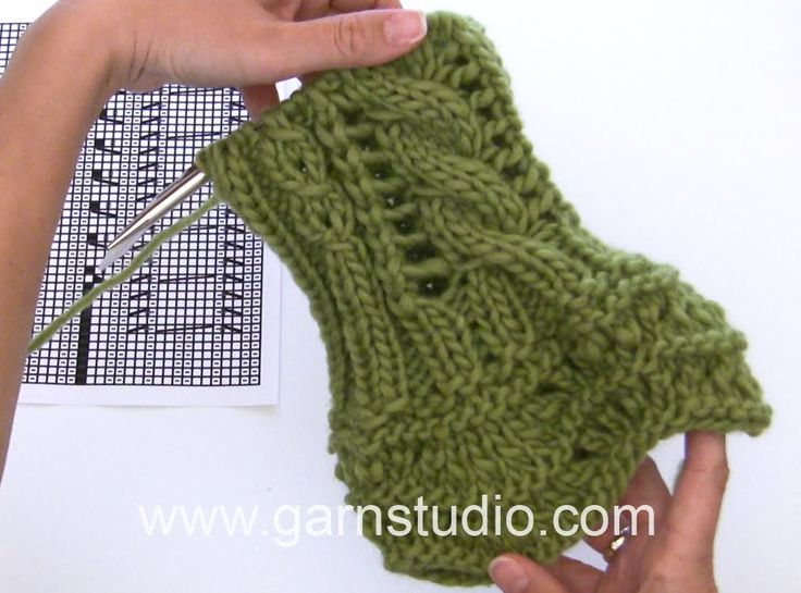 DROPS Knitting Tutorial: How to work the wrist warmers in DROPS 165-31