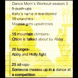Dance moms WORKOUT!!!! I tried it today!!! Imma be sore tomorrow!!! (;