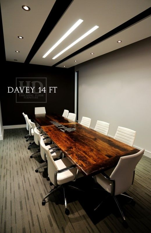 Custom Reclaimed Wood Boardroom Tables | HD Threshing Floor Furniture