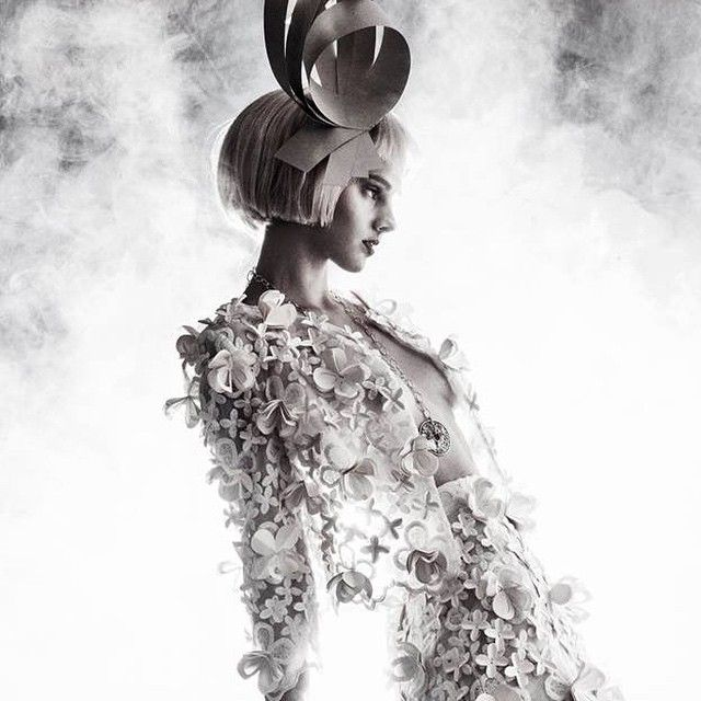 The result of the paper couture photoshoot, the dreamy photos of David Ajkai of our paper dresses designed by PeterMero and // Edinas Paper Installations