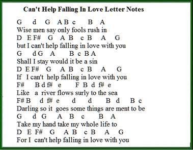 cant help falling in love intermediate piano pdf