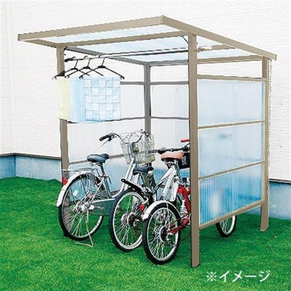 自転車置き場 Diyポートii 塩ビ波板 ステングレー 4尺 別送品 自転車置き場 Diy 自転車小屋 自転車置き場
