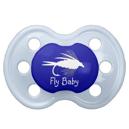 Fly Fishing lure Fly Baby to Personalize Pacifiers