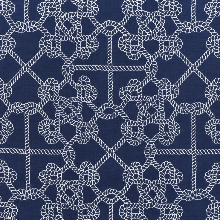 Nautical rope fabric navy