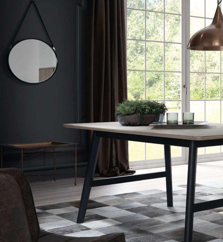 Besøk vår nettbutikk MIRAME.NO og se vårt store utvalg av speil, møbler og interiør til ditt hjem. Speil modell NAVY bord modell HENDRIX.  www.mirame.no  #speil #stue #soverom #gang #bad #innredning #møbler #norskehjem #mirame #pris #nettbutikk #interior #interiør #design #nordiskehjem #kunstpåveggen #butikk #oslo #norge #norsk #påveggen #bilde #speilbilde #rundtspeil #lærrem #lagervare #spisebord #hendrix