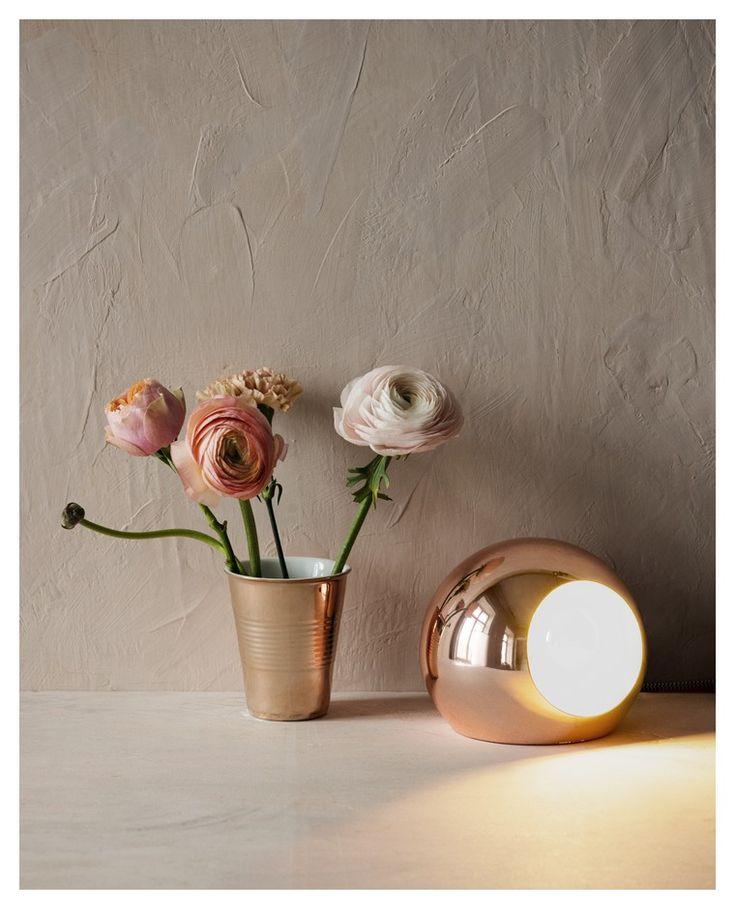 Excel lampe i kobber