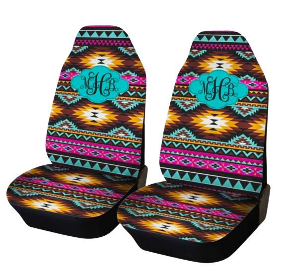 Aztec Car Seat Covers Set of Two Front Seat Covers Tribal Monogrammed Personalized Aztec Car Accessories Seat Covers For Car For Vehicle by ChicMonogram on Etsy https://www.etsy.com/listing/269992252/aztec-car-seat-covers-set-of-two-front