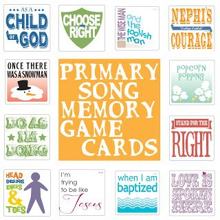 susan fitch design: Primary Song Memory Game Cards: this is for the 2012 songs (some are repeated in 2013)