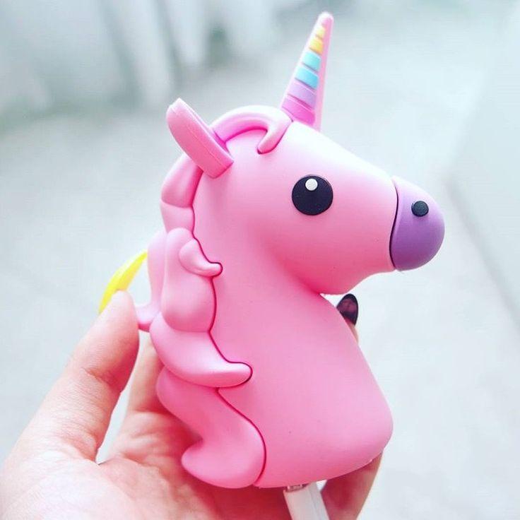 FLOSS Pink Unicorn Emoji //Portable Charger Power Bank