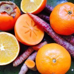 Voedingstips   BioReine Kies voor kleur op je bord! #oranje #kaki #mandarijn #paarsewortel