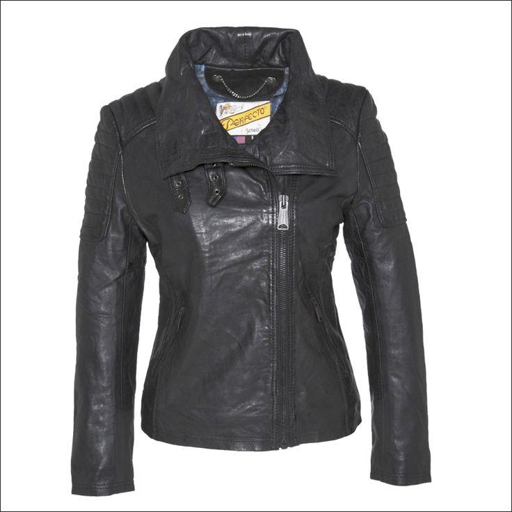 Γυναικείο δερμάτινο μπουφάν SCHOTT N.Y.C. Μοντέλο: Perfecto Leather Jacket Jenn Δέρμα: black nappa Τιμή: 389€
