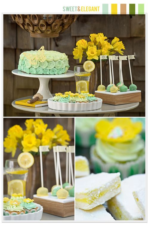aqua and citrus: Spring Tables, Colors Combos, Color Schemes, Color Combos, Wedding Colors, Colors Schemes, Cake Pop, Mustard Yellow, Baby Shower