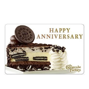 The Cheesecake Factory Gift Card: Anniversary Oreo $50 (email delivery)