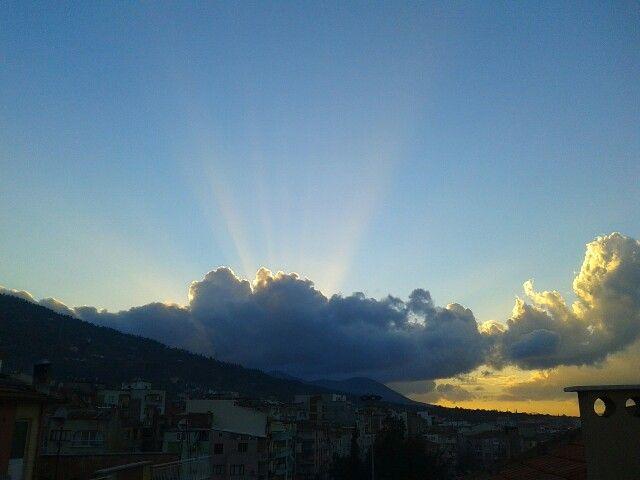 Sunset in Manisa.