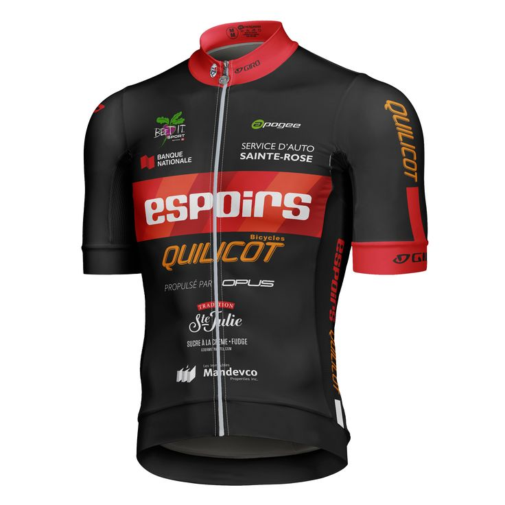 Cycling jersey - Designed and made by Apogee Sports.  Client : Équipe Espoirs Quilcots