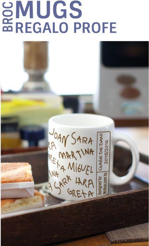 El regalo perfecto para los profesores!. Personaliza su Broc Taza con los nombres de sus niños. Regala sentimientos. www.mrbroc.com