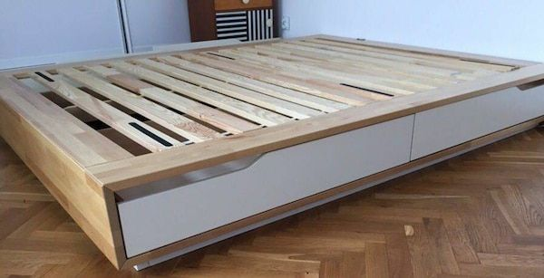 Used Ikea Mandal Full Size Bed Frame For Sale In Los Angeles Bed