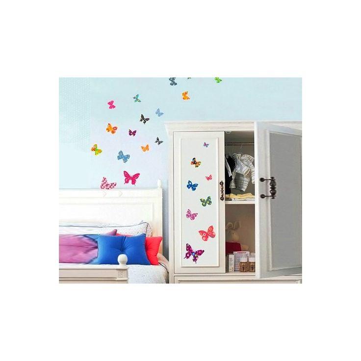 Väggdekor Fjärilar, 26 st