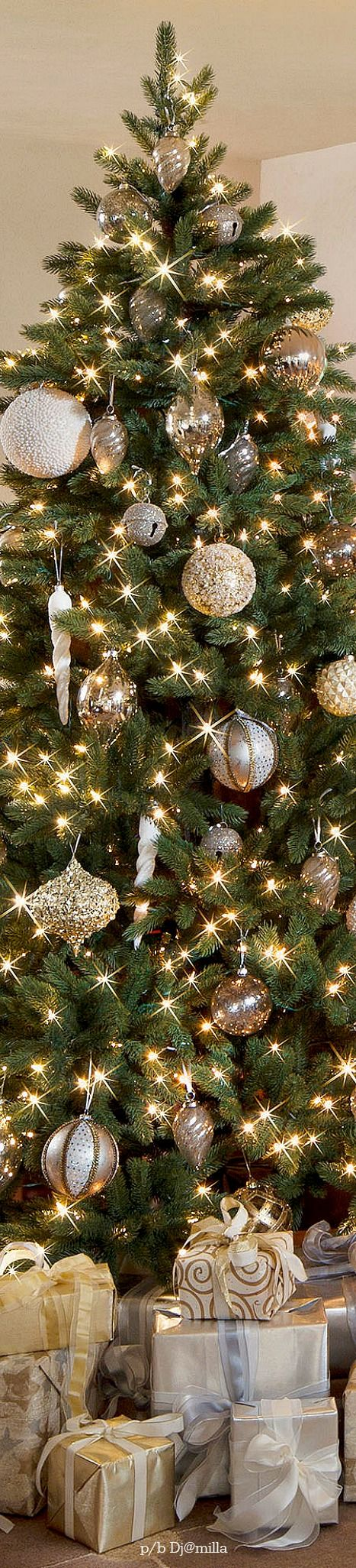 Christmas tree decorations silver and gold - Cosy Tree More Silver Christmas Treeelegant Christmasbeautiful Christmaswhite