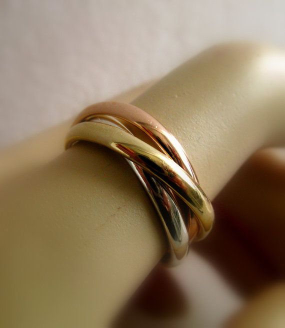 Fine Jewelry Russian Wedding Ring Engagement Ring by Amallias, $560.00