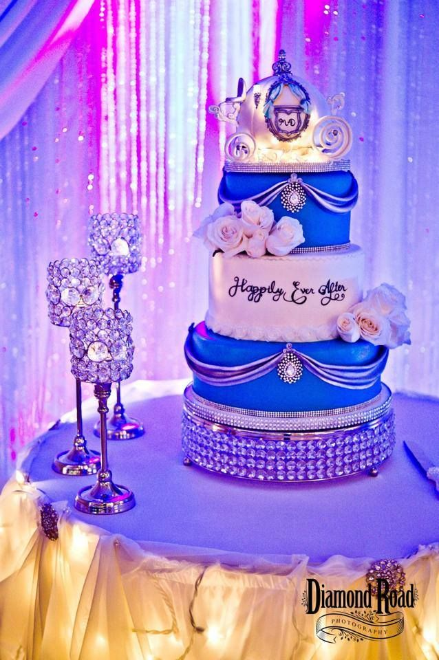 Fairytale wedding cake, Cinderella carriage, lights Check out more of my work on Facebook https://www.facebook.com/pages/Sugar-Cakes/367383859948590