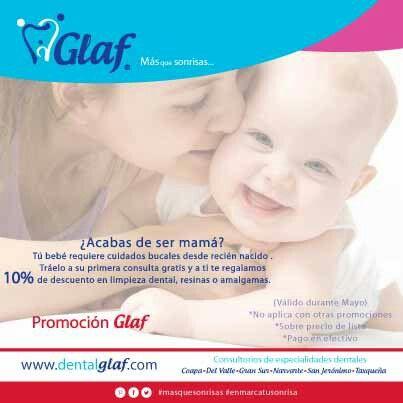 La salud bucal de tu bebé  #Glaf #dentista #df #mujer #mamá #bebé