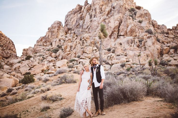 Inspired by the shapes of the rocks and boulders of Joshua Tree, the team behind today's beautiful editorial styled this shoot with the idea of two lovers running away to elope in mind. Forage Floral Design + A Bit of Spark & Sparkle Events utilized the colors of the desert throughout the floral and event design – think soft hues of violet,...