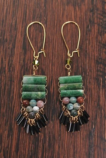 layers: Earrings Ne, Drop Earrings, Moss Earrings, Moss Agates, Agates Earrings, Handmade Earrings, Earrings Lov, Kate Moss, Stones Earrings