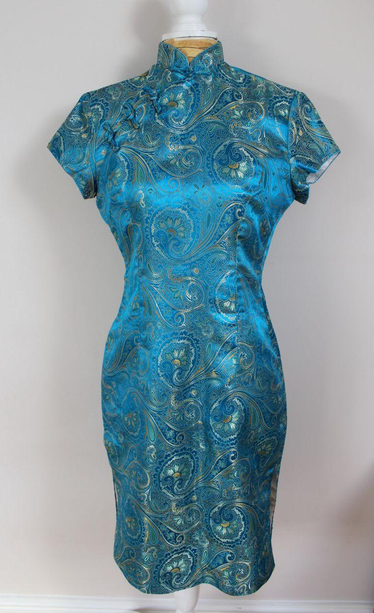 Alte chinesische Kleidung Cheongsam Grösse 10 von BebopBoutiqueuk