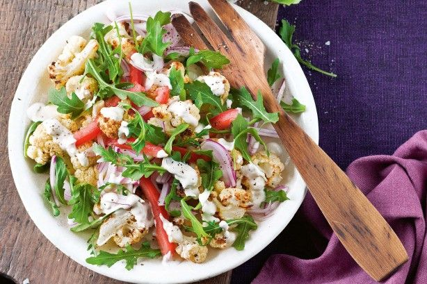 For a delicious smoky flavour, try cooking the cauliflower on the barbecue.