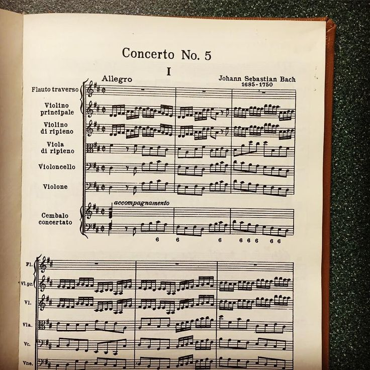 In honor of Johann Sebastian Bachs birthday today were sharing the first page of the Brandenburg Concerto No. 5 in D Major (Allegro). The Brandenburg Concertos were dedicated to Margrave Christian Ludwig of Brandenburg. All six concertos were composed for Margraves orchestra and delivered in 1721. Bachs Brandenburg Concertos are considered practically his first orchestra works. Over 300 years after Bachs birth people are still performing and listening to his music! #Bach #happybirthdaybach…