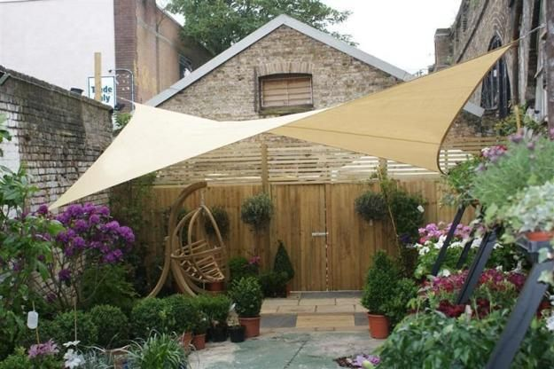 Sunshade sails adding gorgeous look, protection and comfort to modern patio ideas and backyard designs