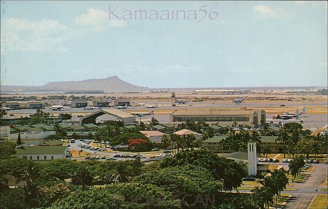 Hickam AFB Diamond Head View Hickam Air Force Base next to