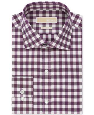 MICHAEL Michael Kors Non-Iron Bold Gingham Dress Shirt