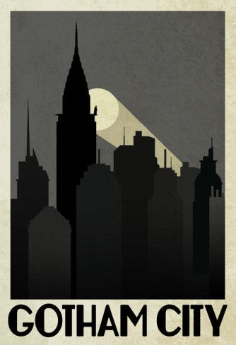 Gotham City Retro Travel Poster Poster at AllPosters.com