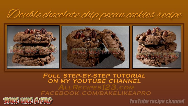 Double Chocolate Chip Pecan Cookies Recipe  FULL VIDEO tutorial on my YouTube channel !  CLICK !