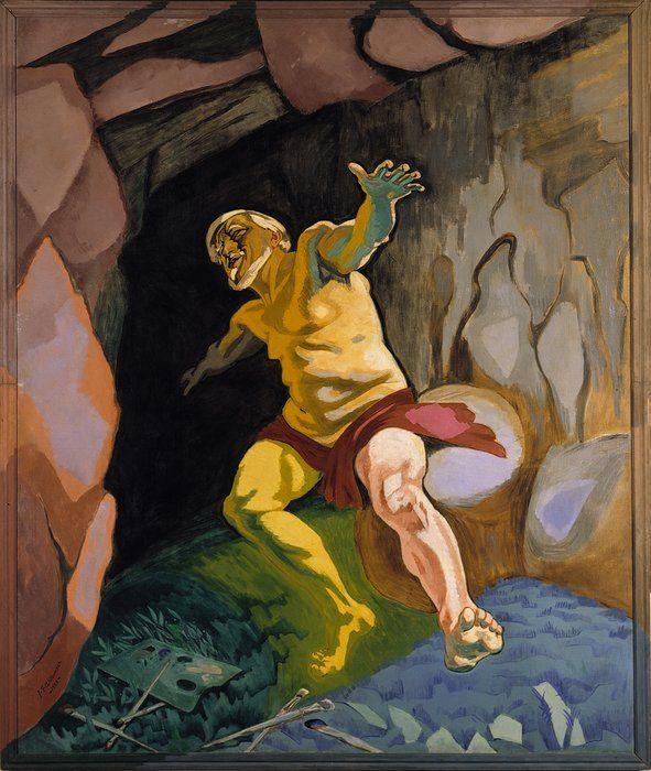 Kunstnere - J.F. Willumsen - Dying Tizian - 1, 1935