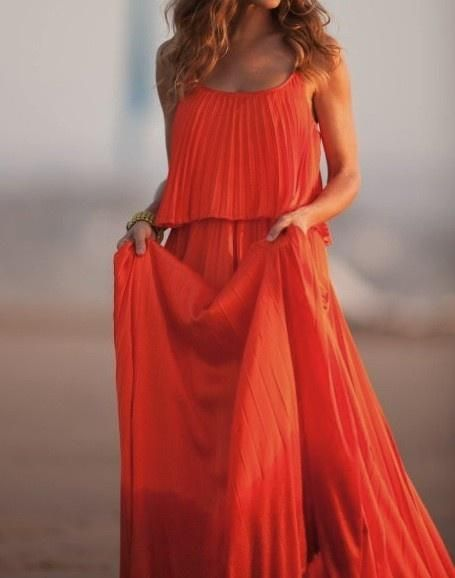 Carries orange maxi dress from satc2 movie ♥