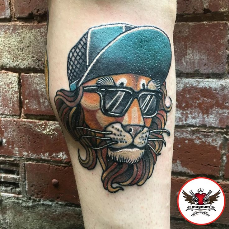 Cool lion tattoo from Niall Shannon using #magnumtattoosupplies