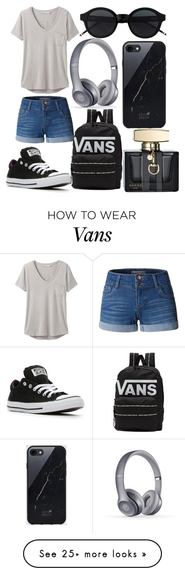 """""""Casual Look"""" by mackenzieq on Polyvore featuring LE3NO, prAna, Converse, Vans, Sefton and Gucci"""