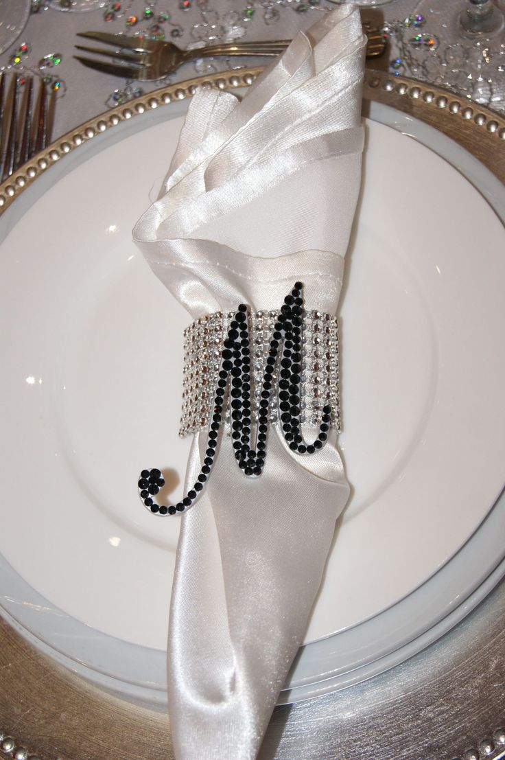 """2"""" Love Letters adorning head table place settings. A beautiful keepsake gift for the VIP's at this wedding."""