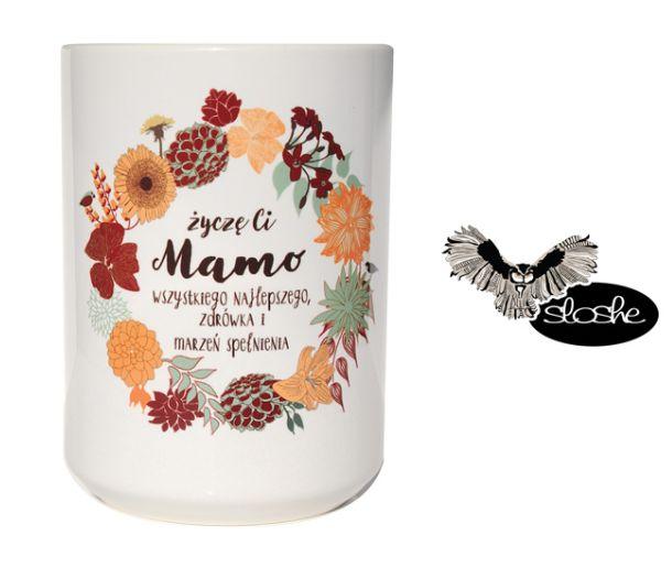 życzę Ci Mamo wszystkiego najlepszego, zdrówka i marzeń spełnienia, kubek ceramiczny 450/330ml