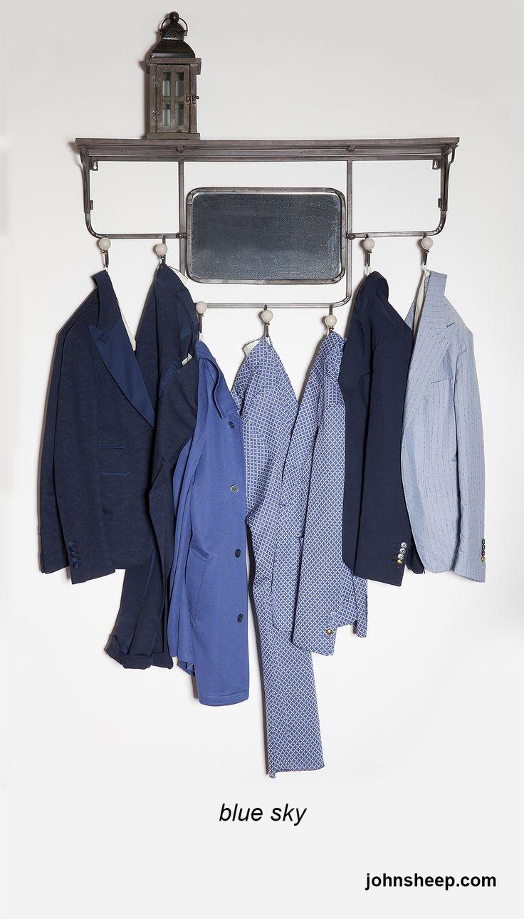 John Sheep - blue sky  #SS14collections #bluesky #JohnSheep #jacket #jacquard #mensstyle