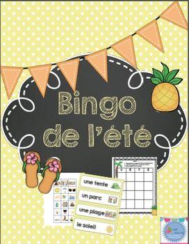 FRENCH Summer BINGO/ Bingo de l'été et des vacances by Madame Emilie French resources