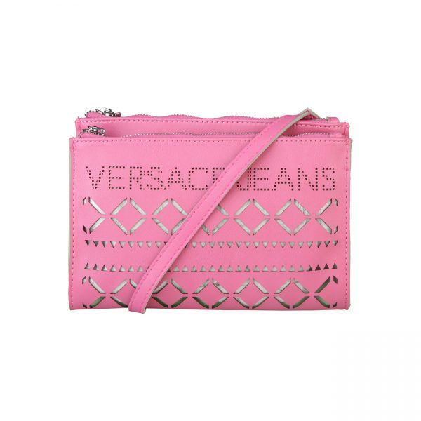 Versace Jeans – E1VNBBH5_75287  Shoulder bag of eco leather has applied logo, zip fastening, 2 compartments. It is internally transparent. It is of size 23*15*4 cm.  https://fashiondose24.com