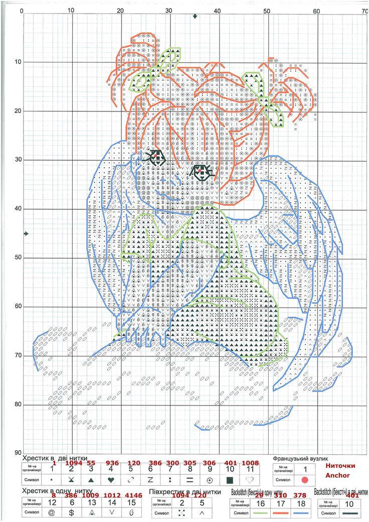 GRAFICOS PUNTO DE CRUZ GRATIS : ANGEL(19)