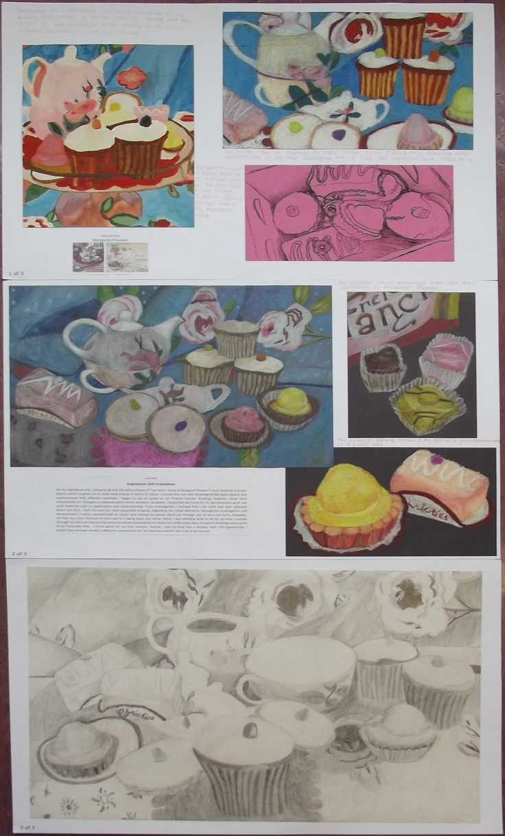 s4 national 5 expressive folio, still life - tea party theme