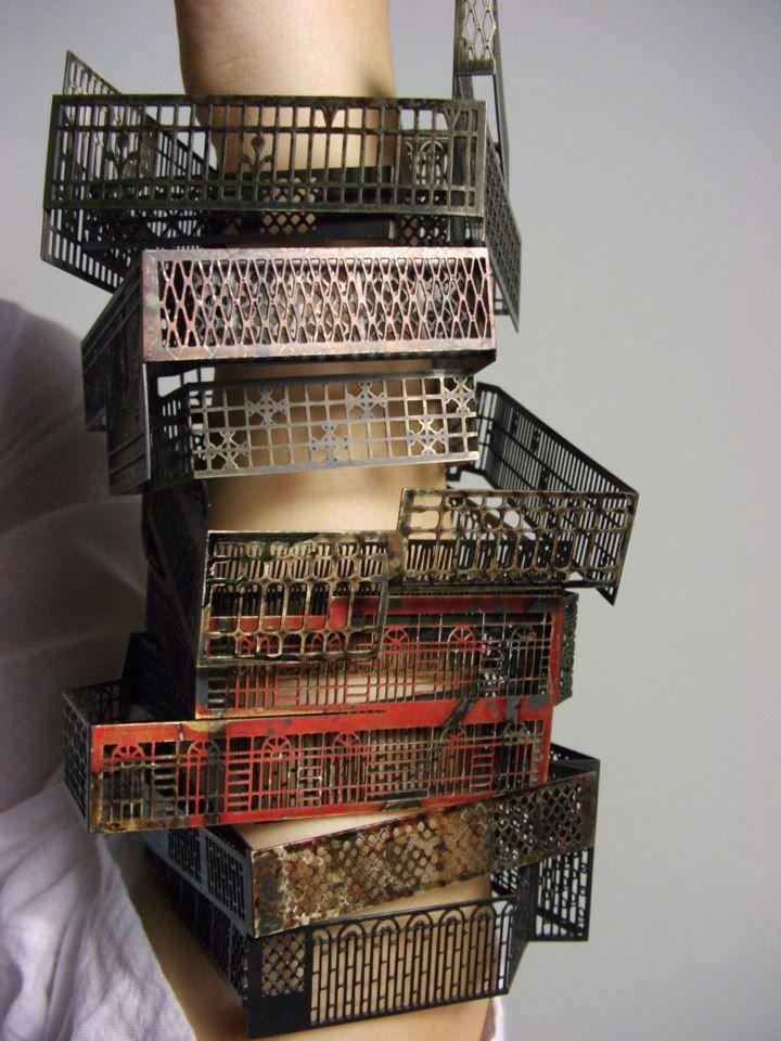 Yung-huei Chao-  Window Series II, Bracelets (2010)  Nilckel silver  8 X 10 X 3 cm (each)   Selected Artist ,Talente 2011