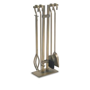 4-Pc. Burnished Brass Fireplace Tool Set #westelm